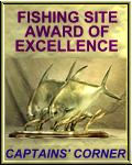Captains Corner Fishing site of Excellence Award winner